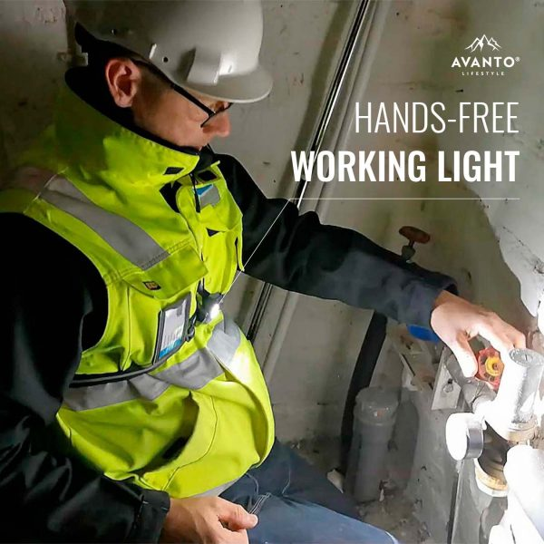 Avanto Lifestyle® Chest Light Pro works also as a hands-free working light